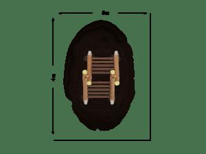 Drabina dwustronna wąska szczeblowa
