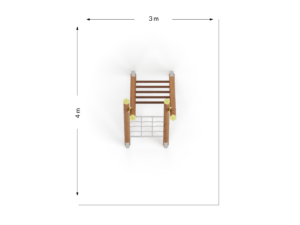 Drabina dwustronna wąska z przeplotnią łańcuchową