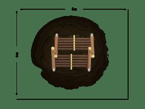 Drabina dwustronna szeroka szczeblowa