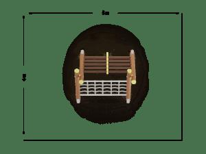 Drabina dwustronna szeroka z przeplotnią łańcuchową