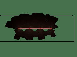 Drążek potrójny