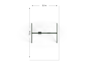 Huśtawka podwójna metalowa