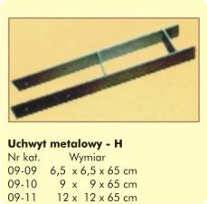 "Uchwyt Metalowy ""H"" 12x12x65cm"